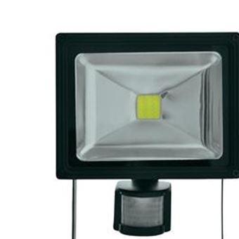 projecteur led ext rieur avec d tecteur de mouvements lumihome dec gl20w s 20 w noir. Black Bedroom Furniture Sets. Home Design Ideas