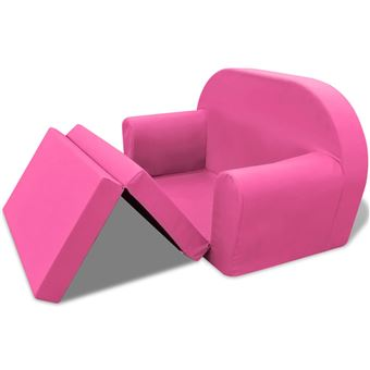 vidaXL Chaise longue pliable pour enfants Rose