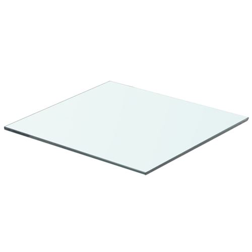 vidaXL Panneau pour étagère Verre transparent 40 x 30 cm