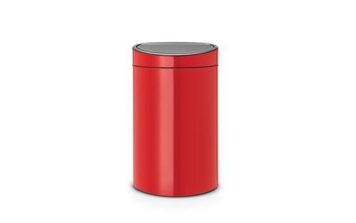 Brabantia poubelle touch bin - 40l - rouge 114960