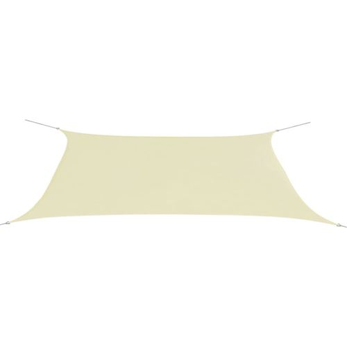 vidaXL Parasol en tissu Oxford rectangulaire crème 4x6 m