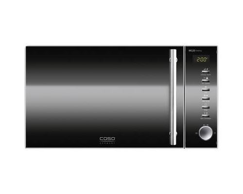 CASO Design MG 20 menu - Four micro-ondes grill - pose libre - 20 litres - 800 Watt - inox/verre miroir