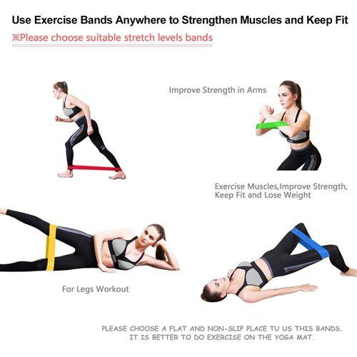 BESPORTBLE 2Pcs Bandes de R/ésistance Ancre de Porte Ancre de Gymnastique Bandes /Élastiques Accessoires pour La Formation dexercice de Yoga