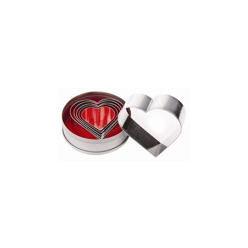Lot de 6 emporte-pièces en forme de coeur vogue