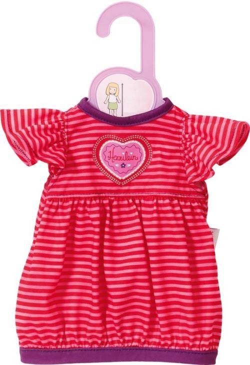 Habit poupee 38-46 cm : robe a rayure rose et rouge - zapf za10