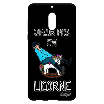 Coque Pour Nokia 6 Silicone J Peux Pas J Ai Licorne Telephone Dessin