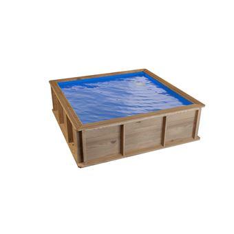 Piscinette hors sol en bois pour enfants pistoche 2 x 2 m piscines hors sol achat prix fnac - Piscine hors sol profondeur 2m ...