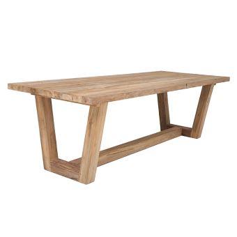 Table en teck massif recyclé 250 x 100 cm Granby - Mobilier de ...