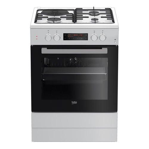 Beko FSE63410GWP - Cuisinière - pose libre - largeur : 60 cm - profondeur : 60 cm - hauteur : 85 cm - avec système auto-nettoyant - classe A - blanc