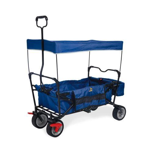Wagon pliant Pinolino Paxi Dlx Comfort avec frein Bleu