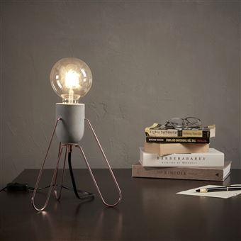 Piccola Industriel Rétro Rose Dorée Lampe De Chevet Bureau Versanora DH2IebW9EY