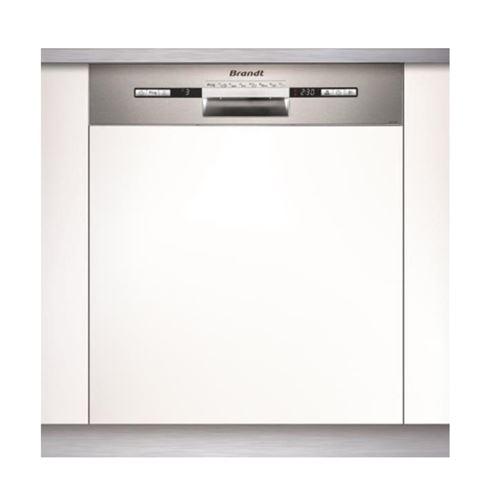 Brandt VH1772X - Lave-vaisselle - intégrable - Niche - largeur : 60 cm - profondeur : 58 cm - hauteur : 82 cm - acier inoxydable