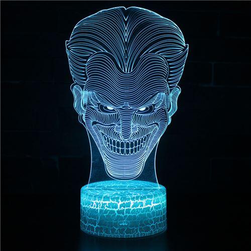 Lampe 3D Tactile Veilleuses Enfant 7 Couleurs avec Telecommande - Batman #293