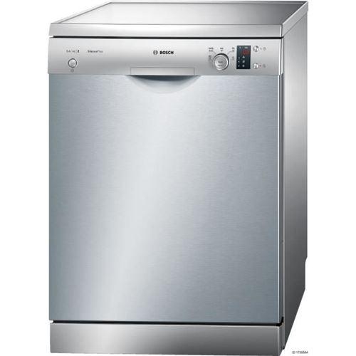 Bosch SilencePlus SMS25AI00E - Lave-vaisselle - pose libre - hauteur : 81.5 cm - Inox argent