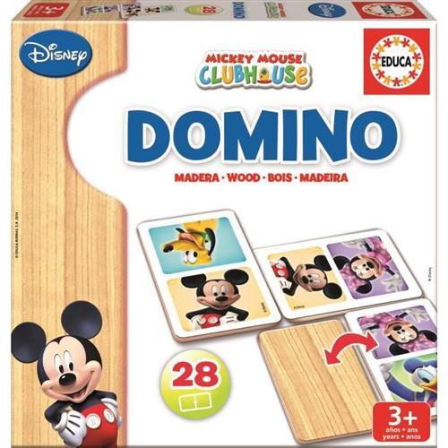 Mickey&Minnie Domino en bois