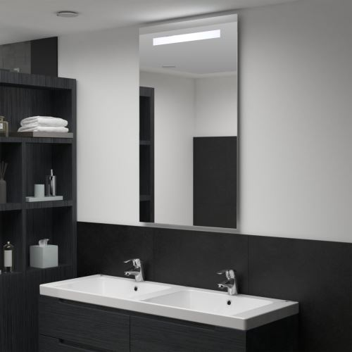Miroir mural à LED pour salle de bains 60 x 100 cm (144710)