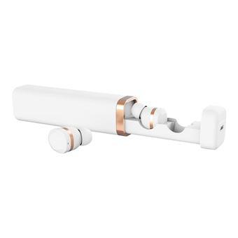 YEVO 1 - In-ear hoofdtelefoons met micro - inwendig - Bluetooth - draadloos - actieve geluidsdemping - wit, ivoor