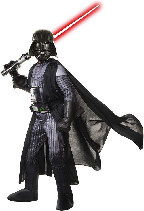 Rubies Costume de Star Wars, Enfants Premium Seigneur Sith Darth Vader Tenue, Medium, âge 5–7 Ans, Hauteur 10,2 cm 5,1 cm – 10,2 cm 15,2 cm