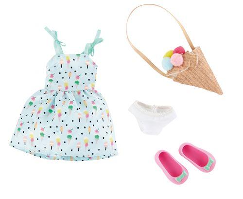 Käthe Kruse Sweet Mint Girl - Ensemble de vêtements pour poupées adolescentes 4 pièces