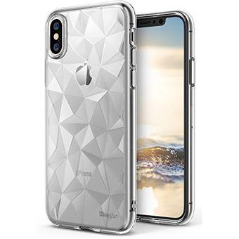 Ringke Coque iPhone X AIR PRISM Silicone Flexible 3D Vogue Bling Design Chic Ultra Rad Pyramide Elegant Motif Diamant Protection Transparent TPU Resistant aux Chocs pour iPhone 10 Clair
