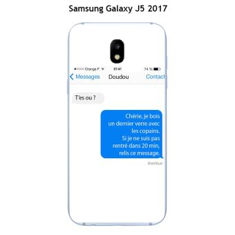 Coque Samsung Galaxy J5 - 2017 design Texto T'es ou