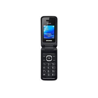 Brondi FOX - Mobiele telefoon - dual-SIM - microSD slot - GSM - 128 x 160 pixels - 1,3 MP - zwart