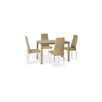 JUSTyou Galant Table de salle a manger Beige foncé - Achat ...