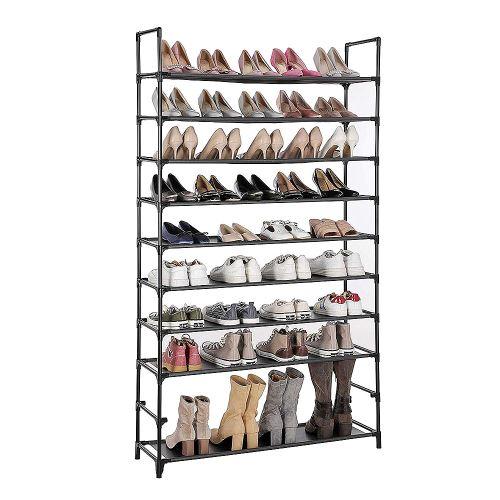 Meuble à Chaussures Jeobest 10 Etagères en Tissu pour 40 paires