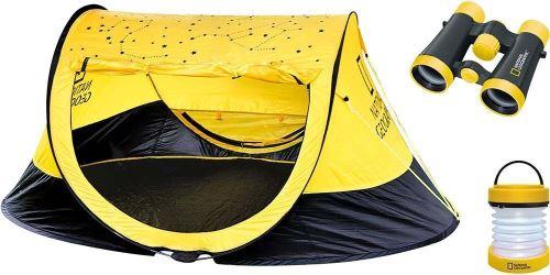 National Geographic - Set outdoor avec tente, jumelles et lanterne