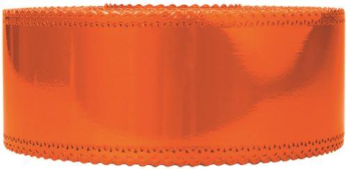 Ruban charlotte dentelle mandarine