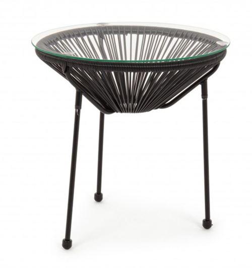 Table basse en acier coloris Noir - Dim : Ø50 x H 50 cm -PEGANE-