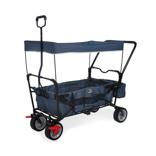 Wagon pliant Pinolino Paxi Dlx Comfort avec frein Bleu Marine