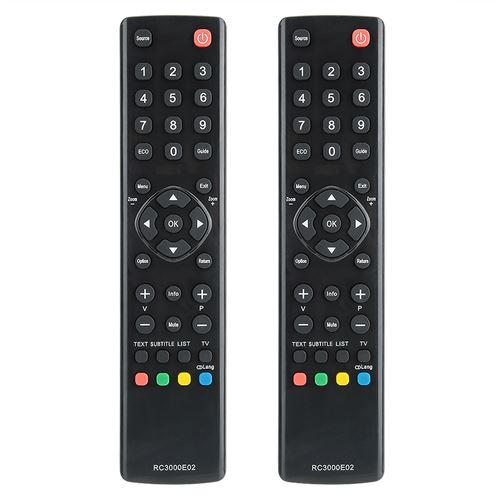 Télécommande de TV à Gros Boutons pour Télévision LCD TCL RC3000E02 LED 2pcs