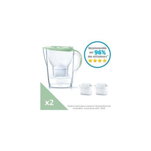 BRITA 1039545 Carafe Filtrante Marella 2 Cartouches Maxtra+-Vert Pastel
