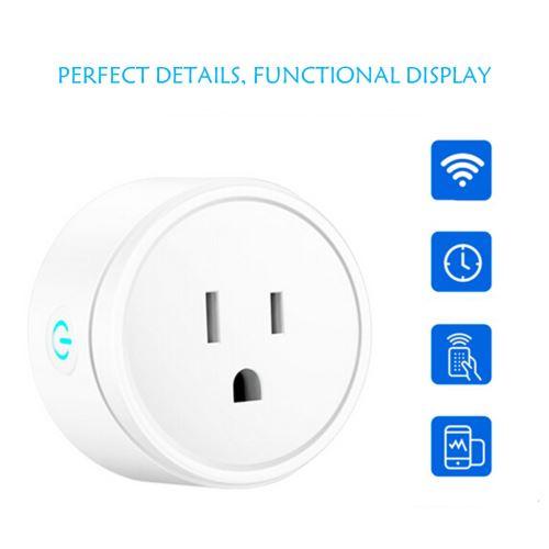 Smart WiFi Prise d'alimentation US Plug commutateur pour Amazon Alexa / Accueil Google App contrôle wedazano676
