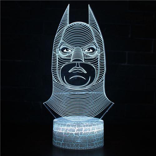 Lampe 3D Tactile Veilleuses Enfant 7 Couleurs avec Telecommande - Batman #294