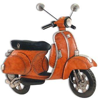 Ancien Scooter grande décoration murale scooter ancien orange - achat & prix | fnac