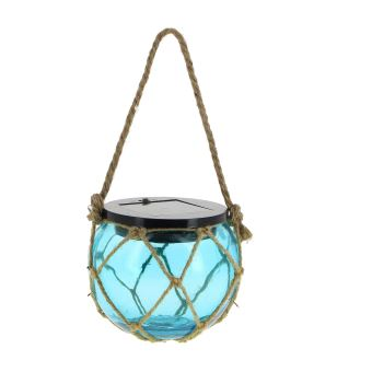 Lampe solaire à suspendre pour jardin et terrasse - bleu - Achat ...