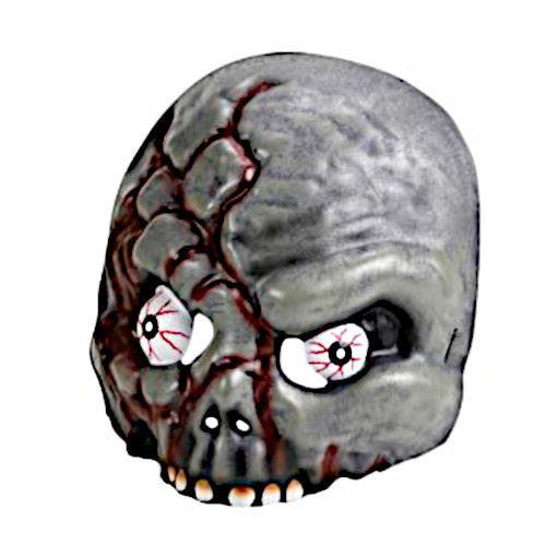 Amscan masque Zombie 20,8 cm gris/rouge taille unique