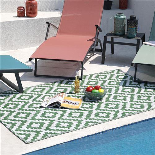 tapis d'extérieur/intérieur réversible 180x90cm - madagascar90cm