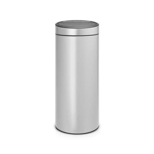 Brabantia poubelle touch bin - 30l - gris métallique 115387