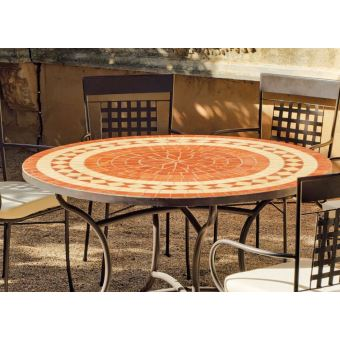Table de jardin ronde et fauteuils Lorny Vigo 4 fauteuils - Mobilier ...