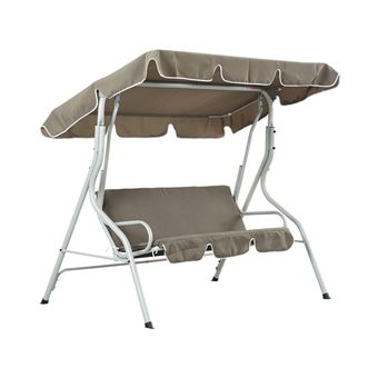 balancelle jardin swing - 3 places - taupe