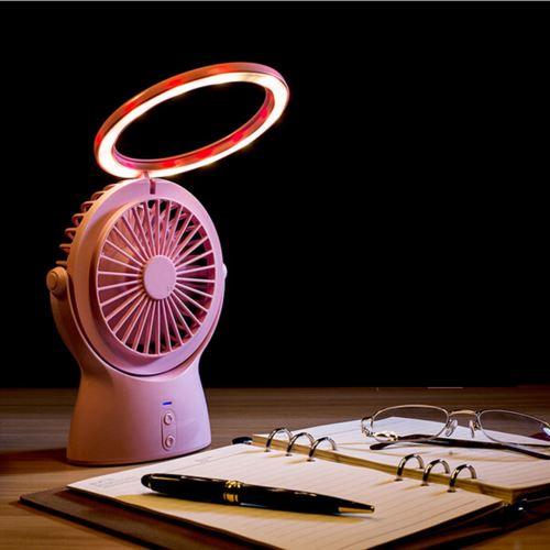 USB multifonctions Charged lampe de bureau LED Portable Le vent troisième vitesse du ventilateur
