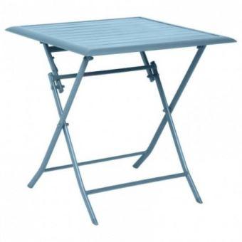 Table aluminium Azua 2 places bleu orage Hespéride
