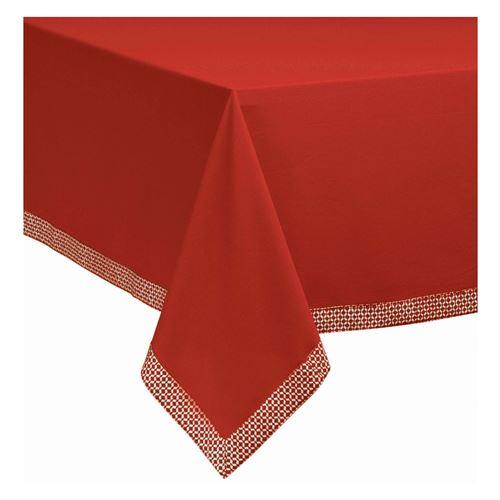 Nappe Tosca rouge 150 x 250 cm Les Ateliers du Linge
