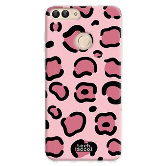 coque pour Huawei P Smart 2018 TPU Silicone Animal Print Leopard Rose