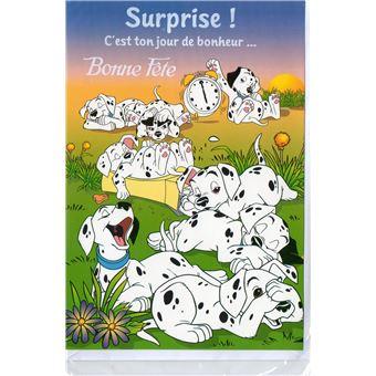 Carte Bonne Fete Fille.Carte Enfant Bonne Fete Les 101 Dalmatiens Disney Fille Et Garcon 57