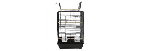 Cage à oiseaux Portable Avec lucarne ouverte 40*40*58cm-noir