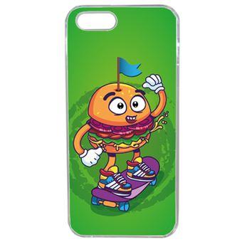 Coque Burger Fond Vert Compatible Iphone 5s Transparent